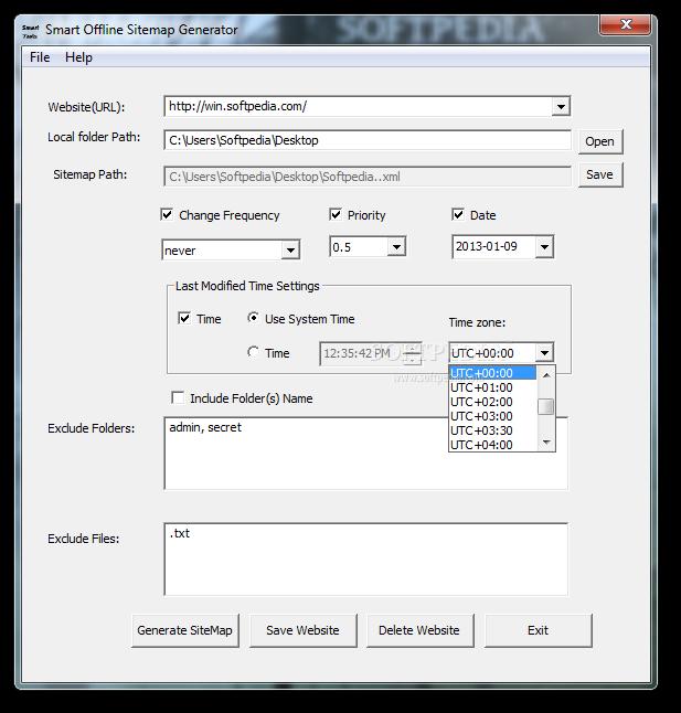 Sitemap Internet: Download Smart Offline Sitemap Generator 1.1