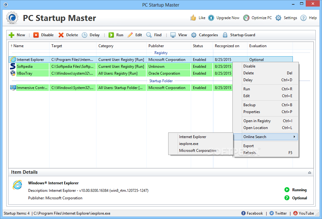 Startup Master screenshot 1 - Startup Master will help you quickly and easily manage and optimize the Windows startup