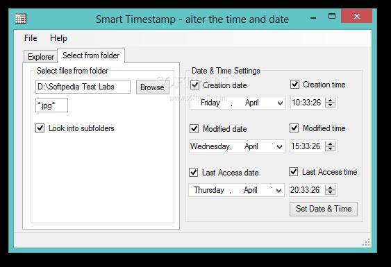 Download Smart Timestamp Portable 1.1.0.0