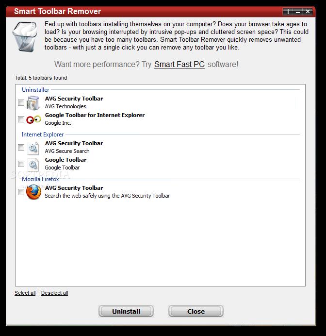 Download Smart Toolbar Remover 2.2