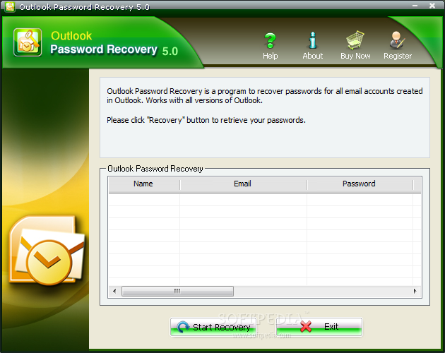 Smartkey Outlook Password Recovery on Windows 10 Trial Version