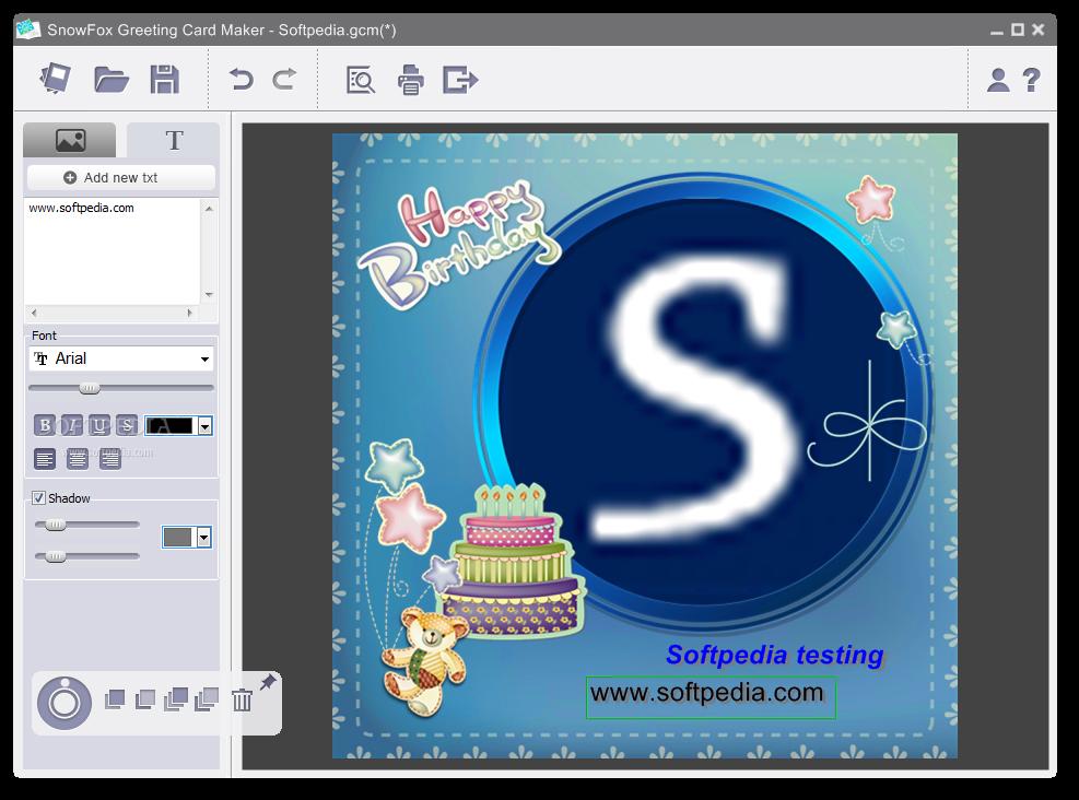 download snowfox greeting card maker 201