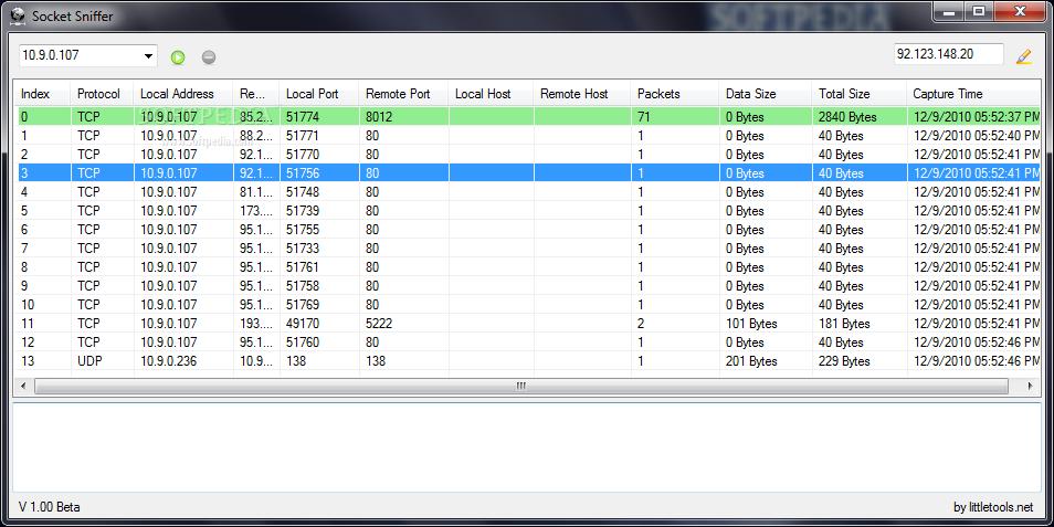 Download Socket Sniffer 1 00 Beta