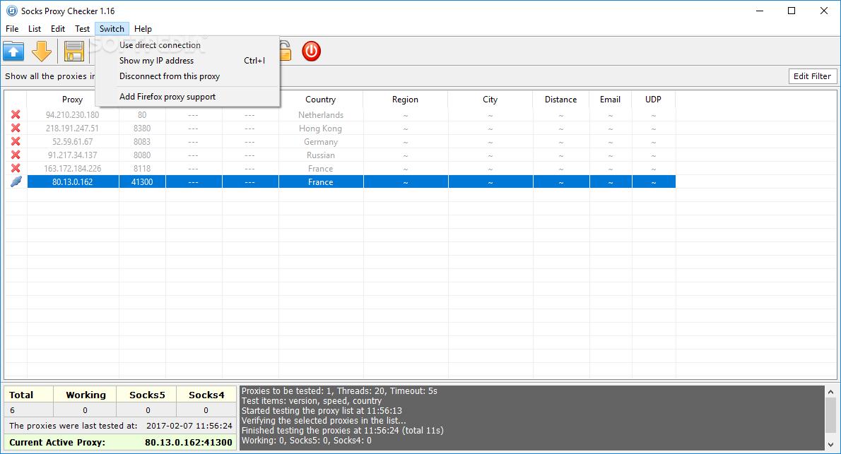 Download Socks Proxy Checker 1 18