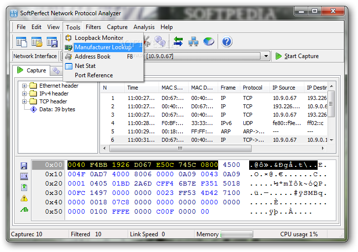 softperfect network protocol analyzer serial number