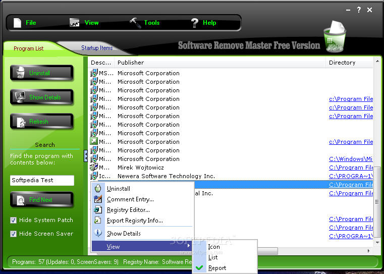 Software Remove Master Screenshots, screen capture - Softpedia