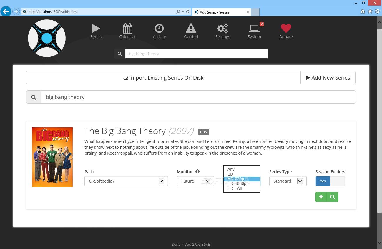 Download Sonarr 2 0 0 Build 5322