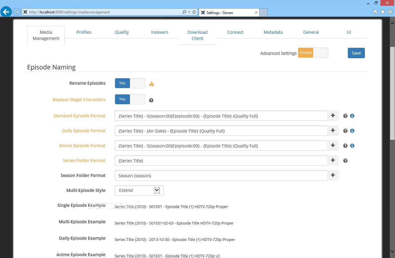 Download Sonarr 2 0 0 Build 5338