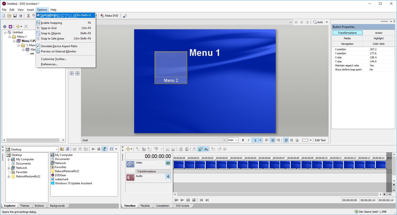 download vegas dvd architect 7 0 build 84 rh softpedia com Sony DVD Architect Menu With Sony Vegas DVD Architect