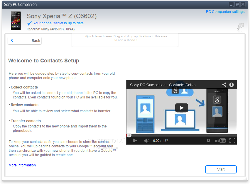 how sony xperia pc companion software download may