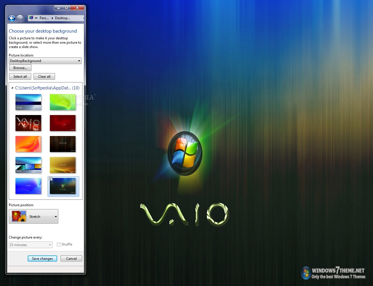 download sony vaio windows 7 theme 10