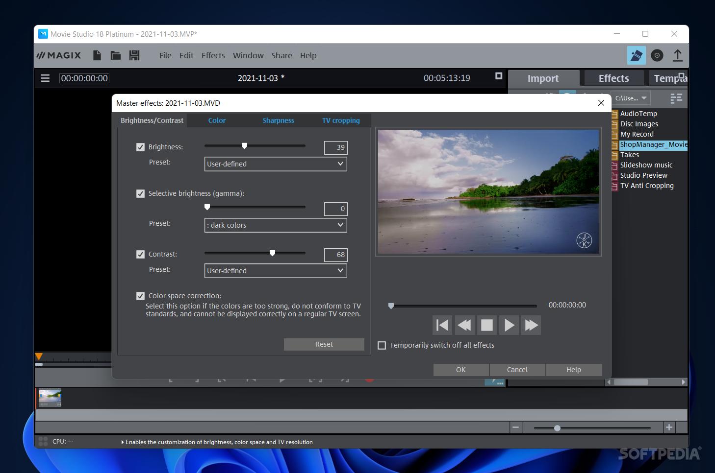 Sony vegas movie studio for mac windows 7