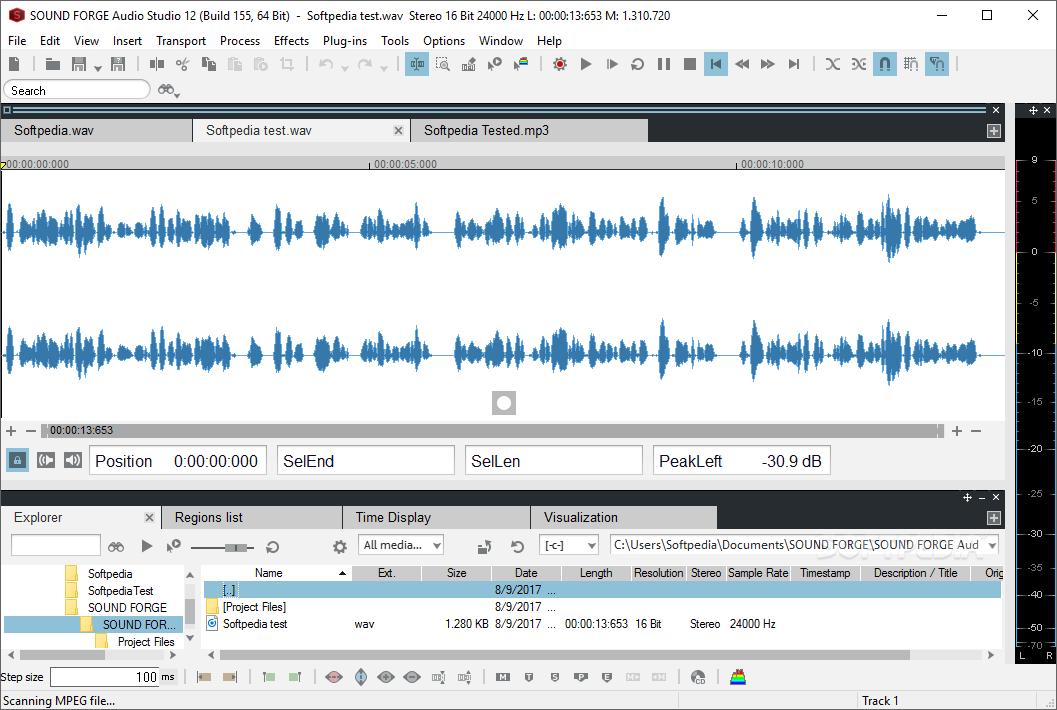 sound forge audio studio software free download