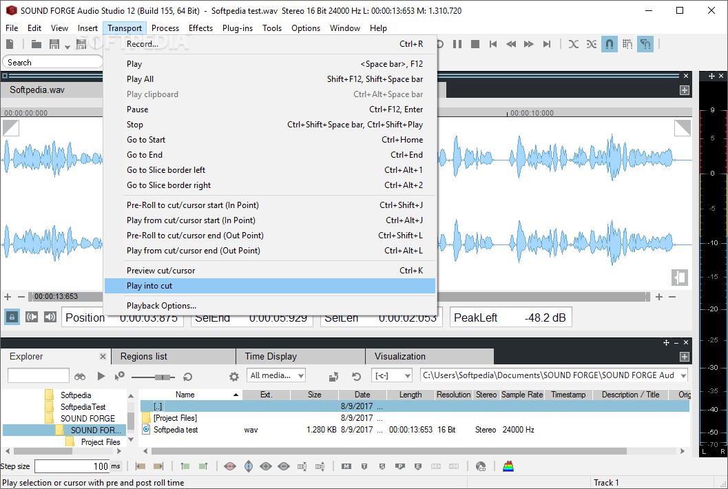 descargar sound forge gratis para windows 7