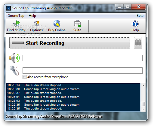 SoundTap Streaming Audio Recorder Free Download for