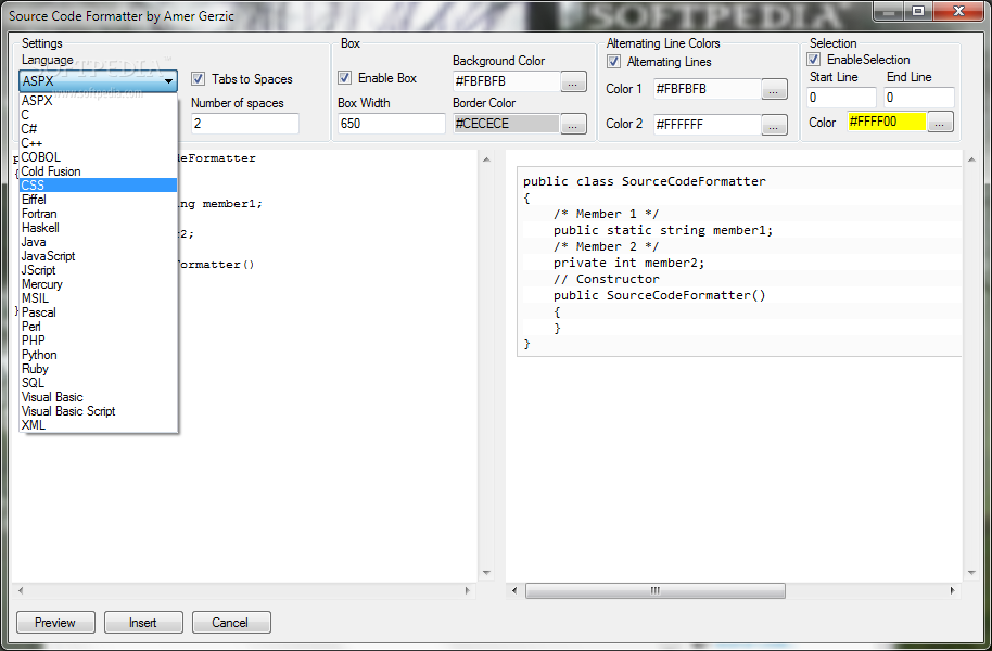 Download Source Code Formatter 1 3 0