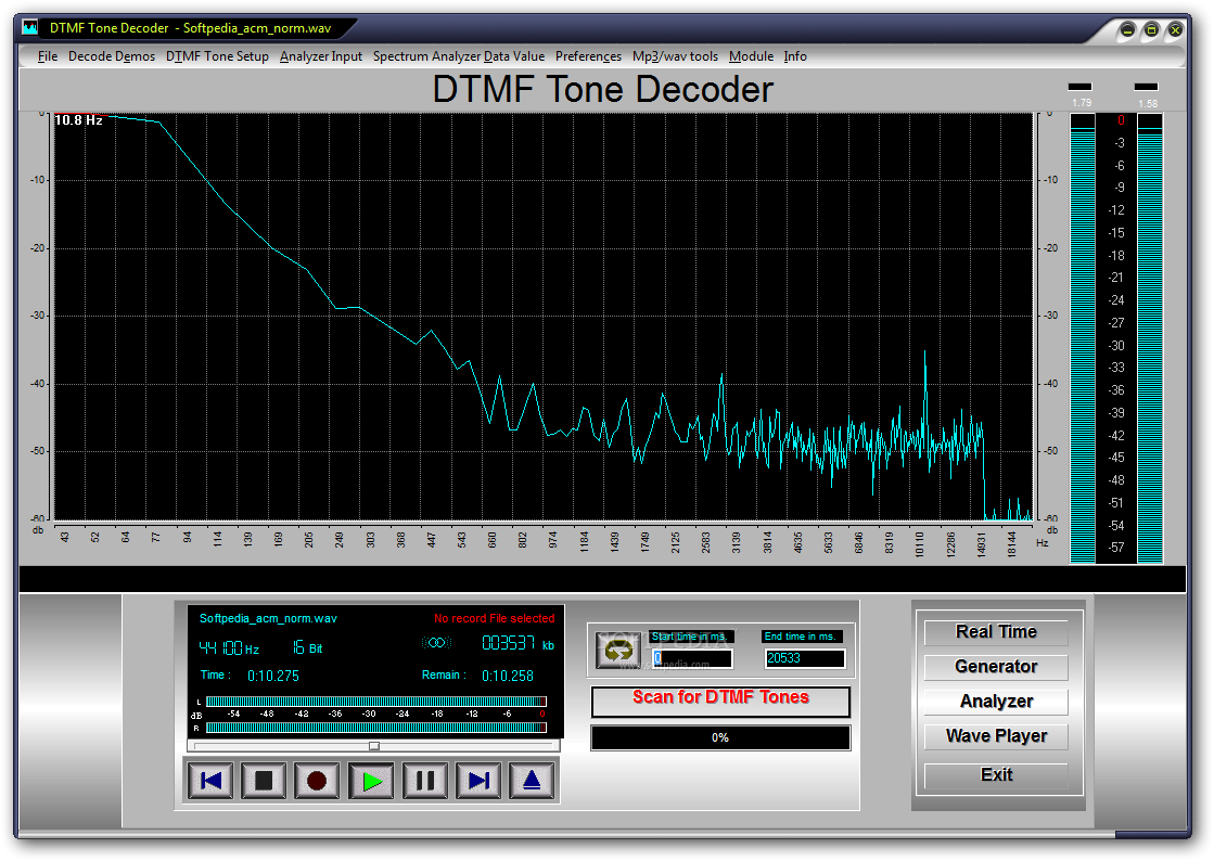 Download Dtmf Tone Decoder 2016 Phone This Is The Main Window Of Where You Are