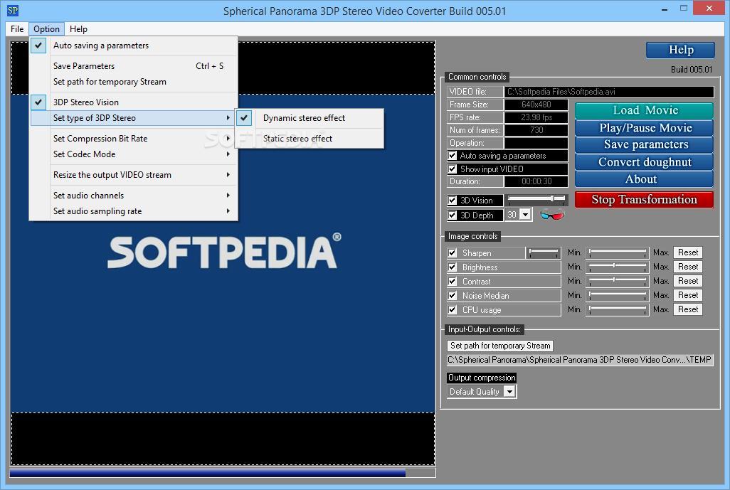 Download Spherical Panorama 3DP Stereo Video Converter Build