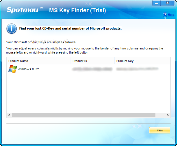 install and launch spotmau password and key finder