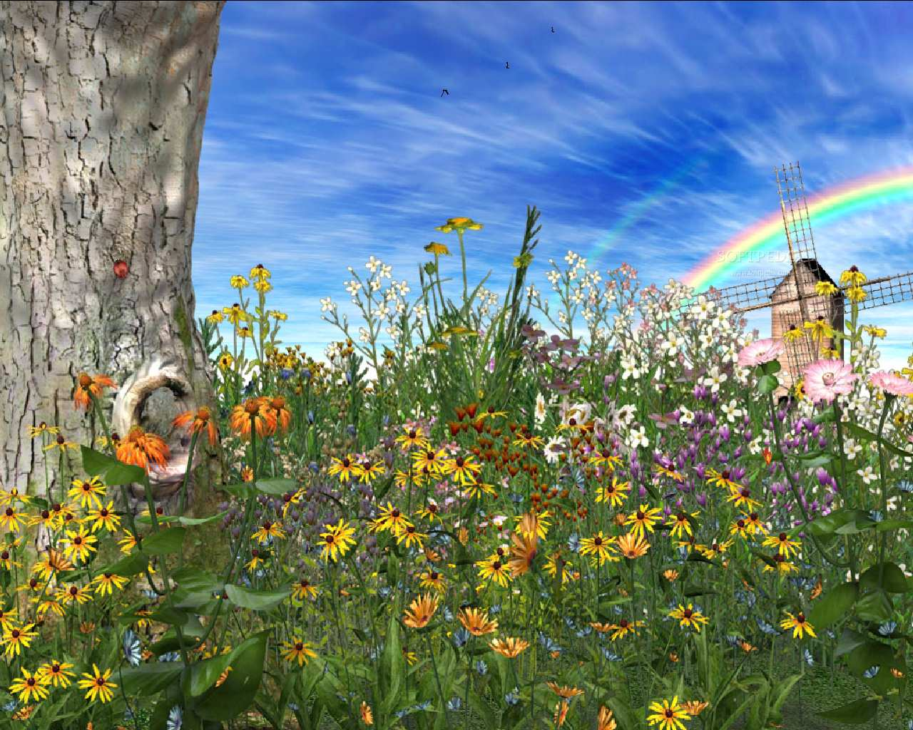 Spring time - animated screensaver - this is the image displayed by
