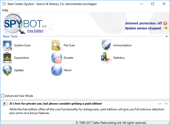 spybot search and destroy download windows 10