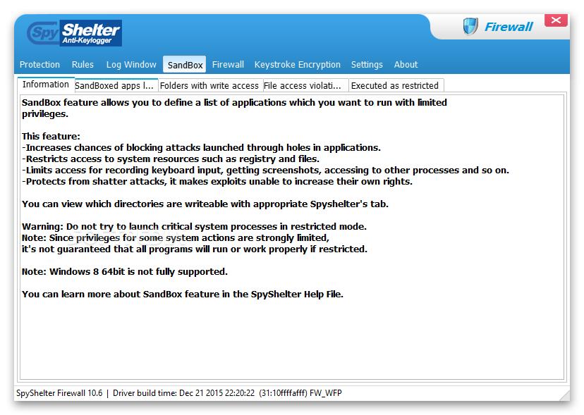 spyshelter firewall free