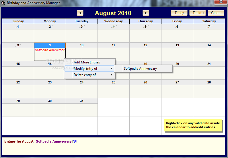 Calendar Diy Software : The starmessage diary software download