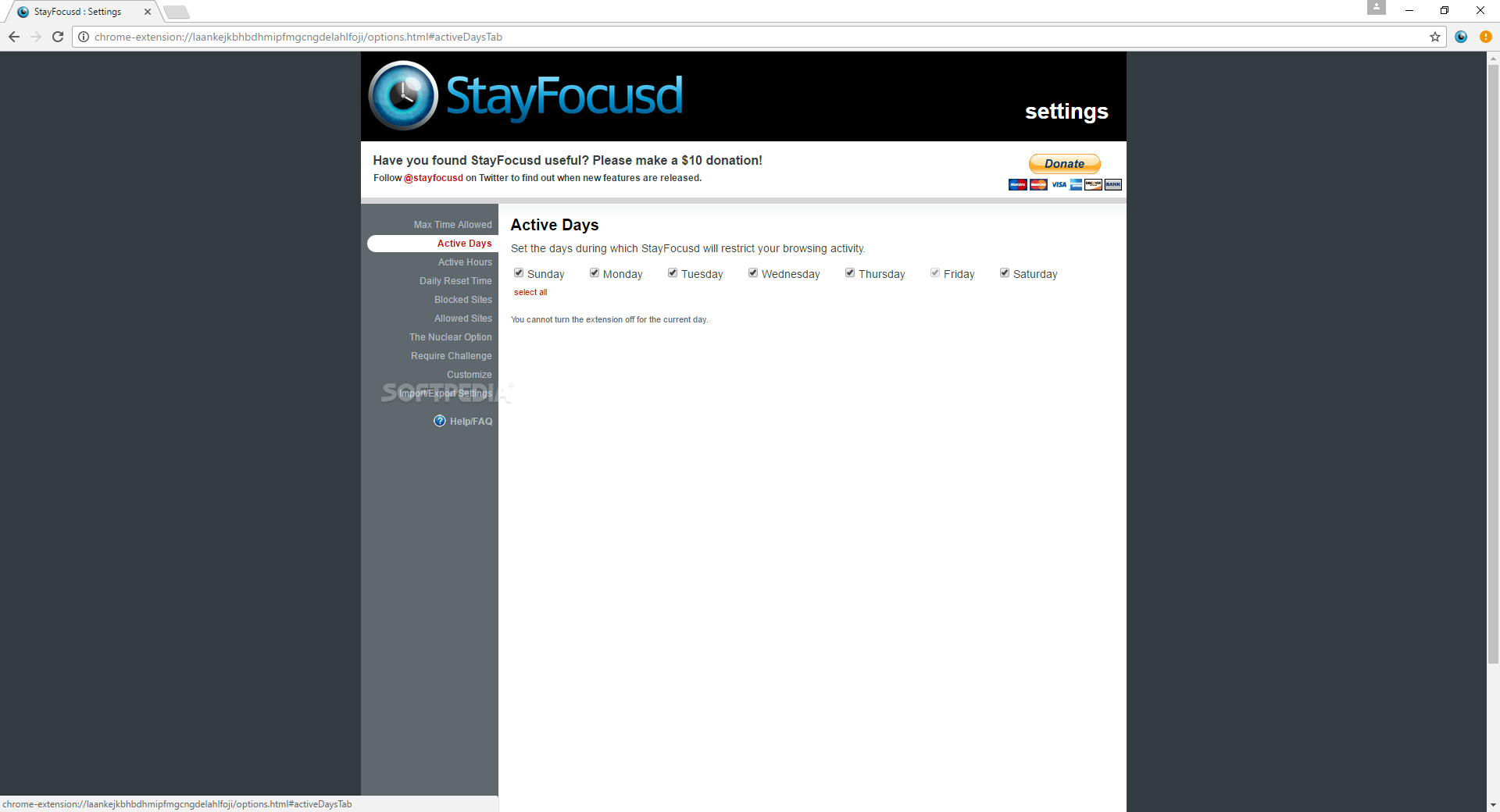 Download StayFocusd for Chrome 1 5 11