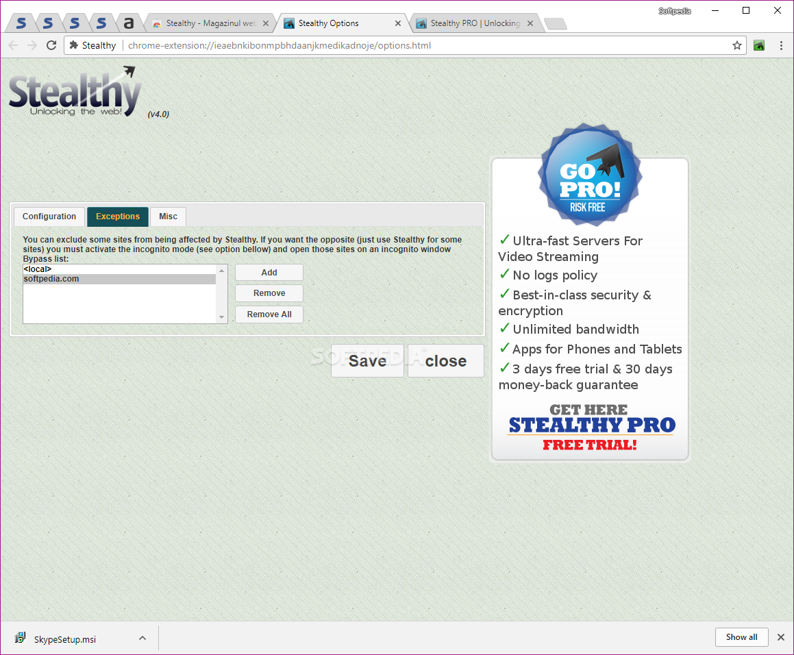 Access restricted / blocked sites with stealthy extension for.