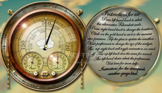 download steampunk weather widget 1 0 8 1
