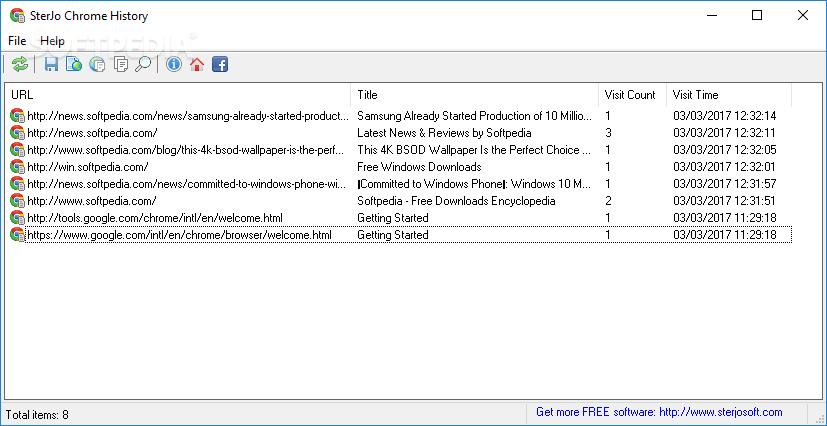Download SterJo Chrome History 1 1
