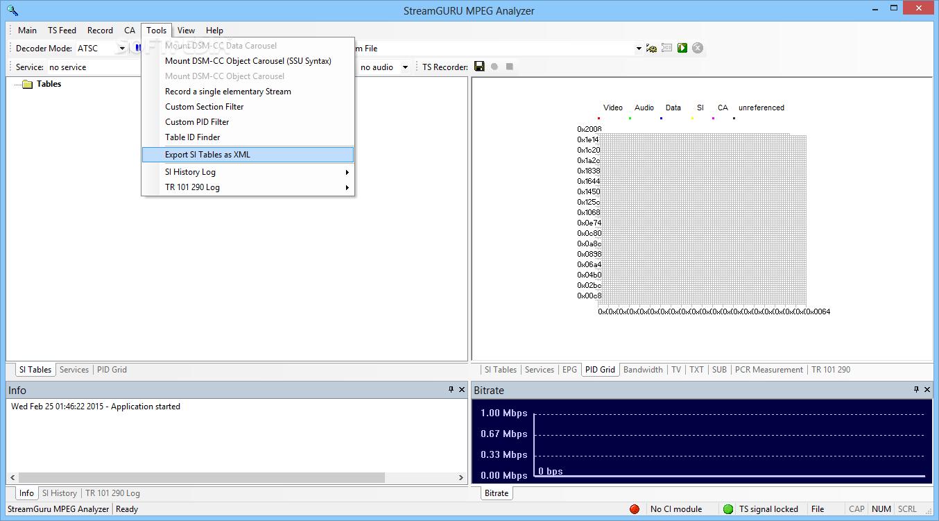 Download StreamGURU MPEG Analyzer 2 95