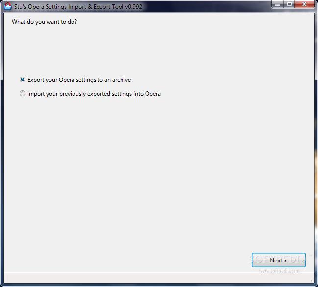 Download Stu's Opera Settings Import & Export Tool 0 993