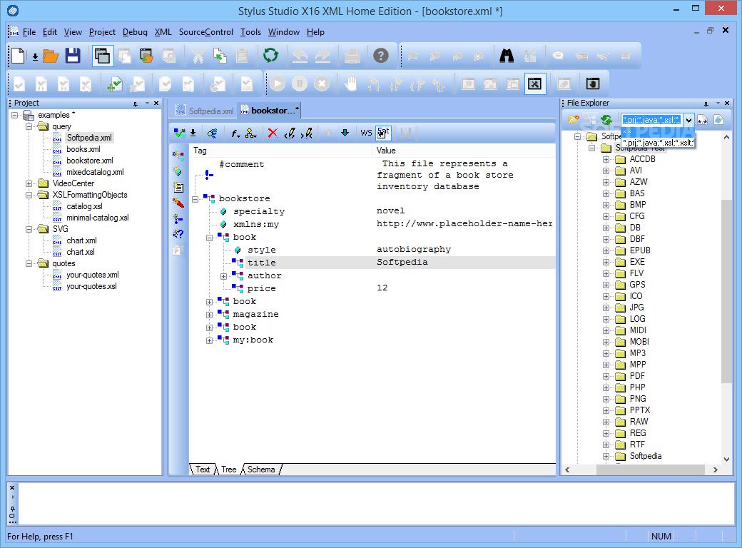 Download Stylus Studio X16 XML Home Edition Build 1987o
