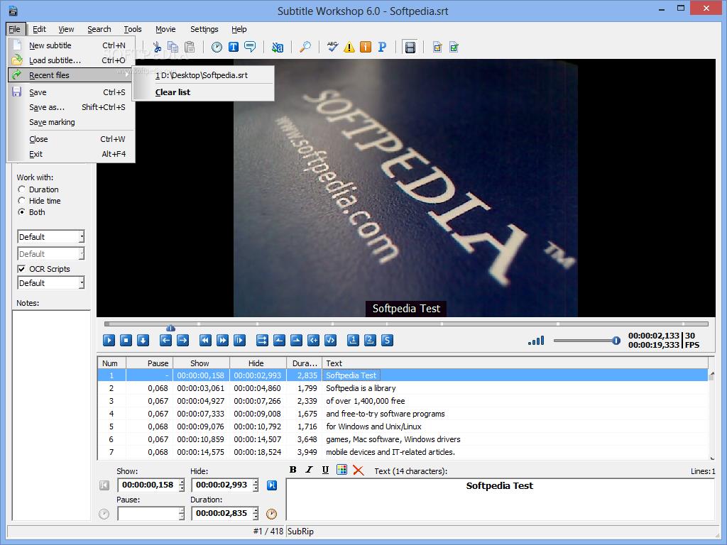 Download Subtitle Workshop Portable 6 0e/36
