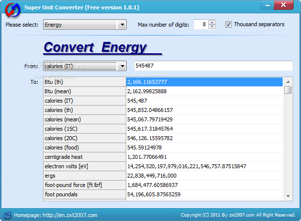 Super Unit Converter The Main Window Of Enables You To Start Your