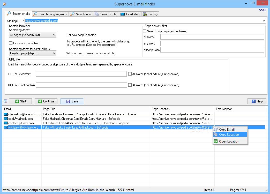 Download Supernova Email Finder 1 3
