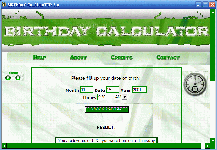 Download Birthday Calculator 3 0