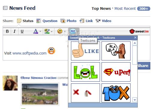sweetim for facebook emoticons