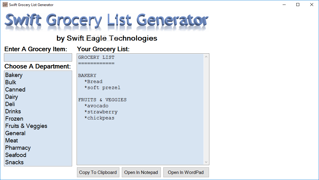 download swift grocery list generator 3 2 0 1