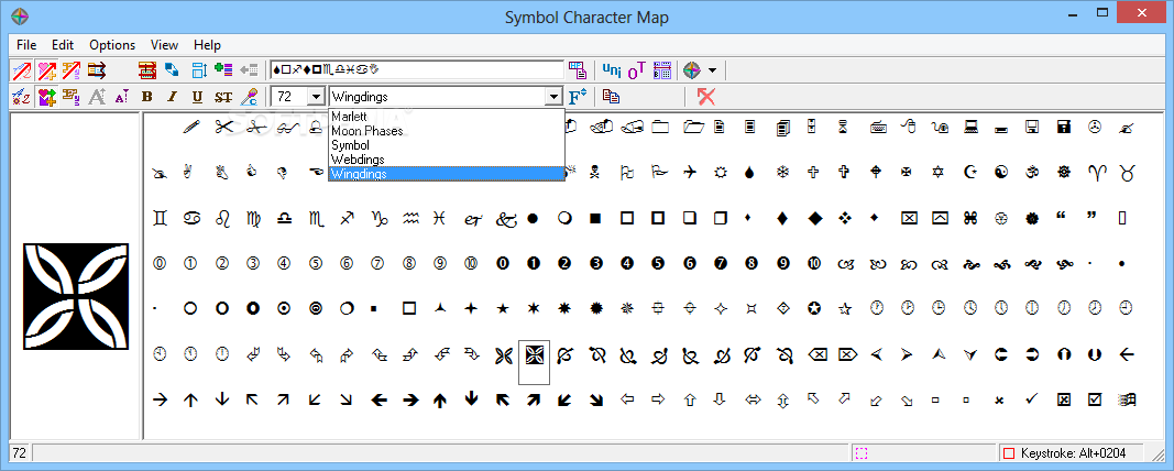 Download Symbol Character Map 400