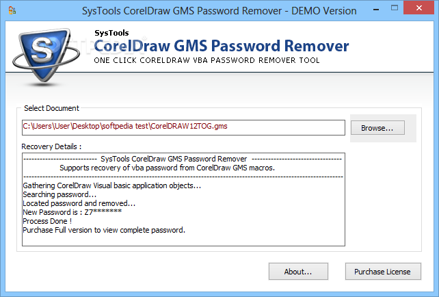 Download SysTools CorelDraw GMS Password Remover 2 0