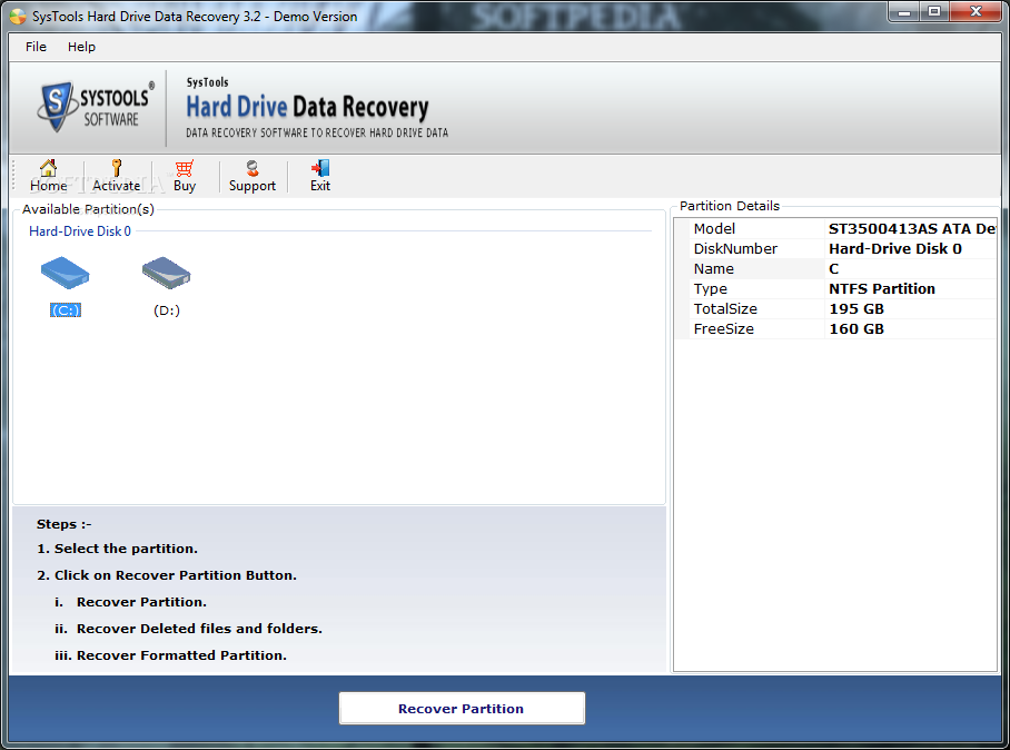 Systools hard drive data recovery 3.3