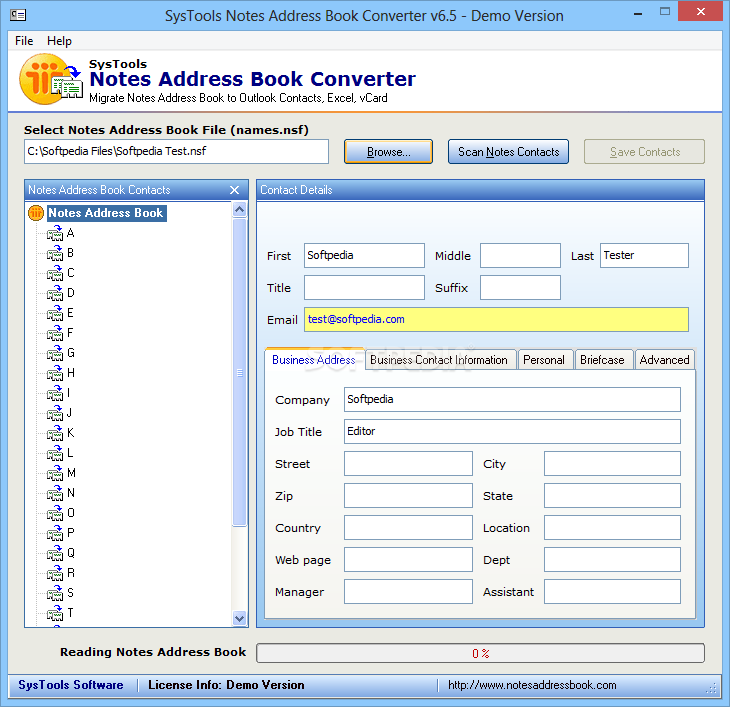 Lotus notes address book converter 7.0