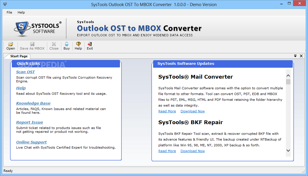 Download SysTools Outlook OST to MBOX Converter 1 0 0 0