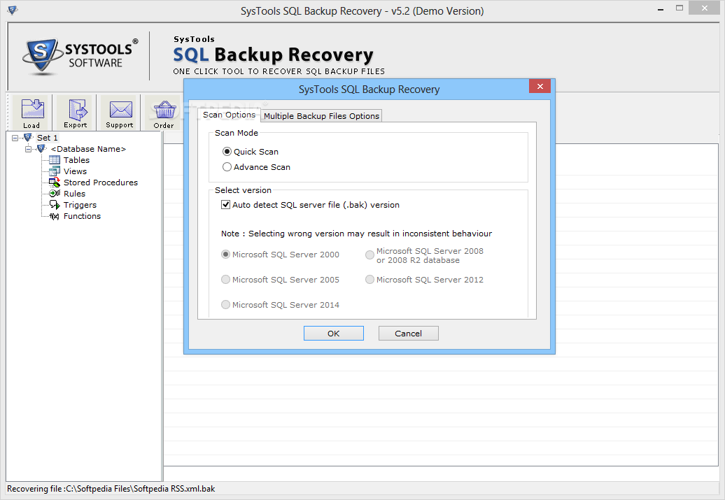 Download SysTools SQL Backup Recovery 7.0