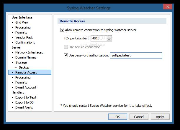 Download Syslog Watcher 5 0 7 / 4 8 11