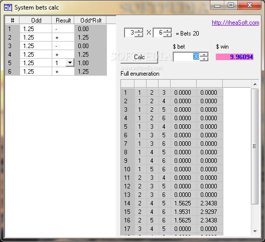 Betting system calculator best international sports betting sites