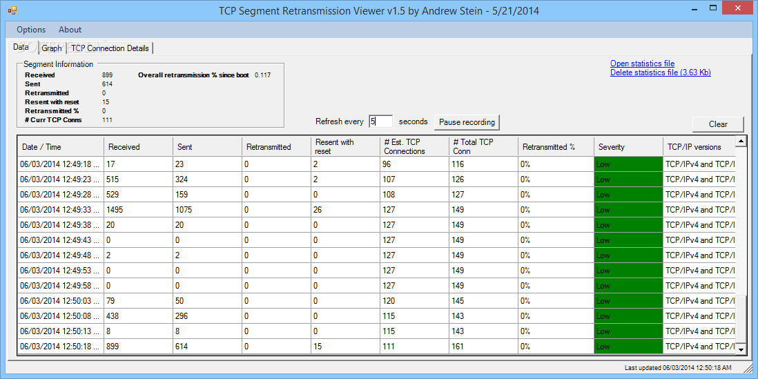 Download TCP Segment Retransmission Viewer 1 5