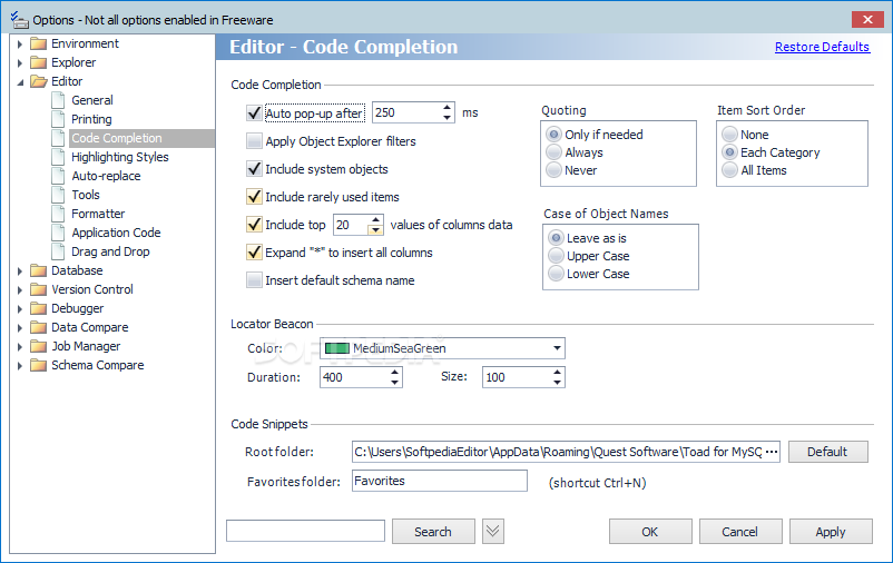 Toad for MySQL Freeware (bit) - Download